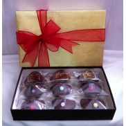 Chocolate Fortune Cookie Gold Gift Box Set